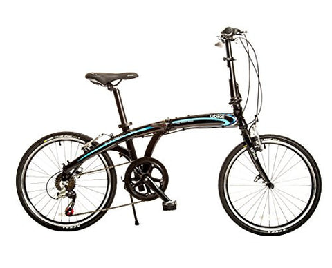 "Bike USA Ubike Blue Streak 7-Speed Folding Bicycle with 20"" Wheel, 10""/One Size"