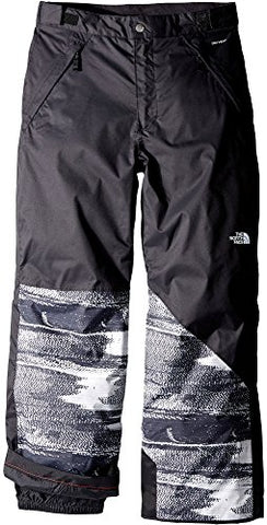 The North Face Freedom Insulated Kids Ski Pants - X-Large/TNF Black Static Print