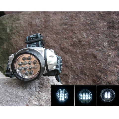 (HQ Product) 12LED High Brightness Headlight Outdoor Multi Waterproof Headlamp
