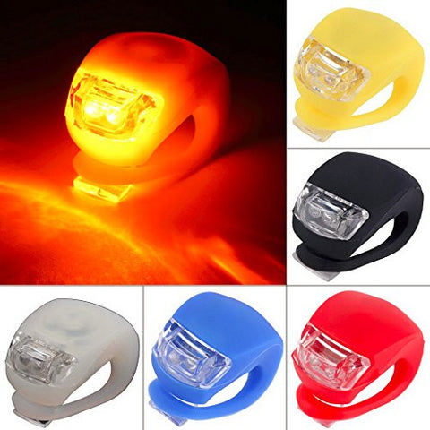 1 pc Wholesale Silicone Bike Bicycle Cycling Head Front Rear Wheel LED Flash Light Lamp Hot Selling