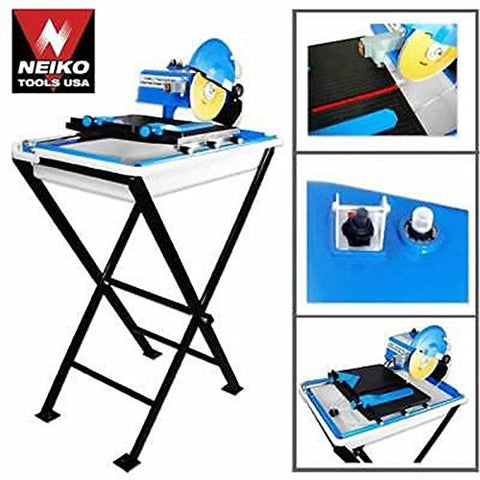 "3/4 Hp 7"" Wet Tile Saw Cutter W/laser + Stand Free S/h"