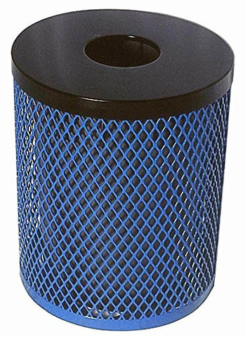 32 Gallon Trash Receptacle in Blue