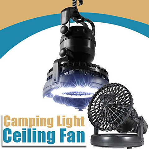 Outdoor Camping 2-in-1 LED Light and Ceiling Fan Using In Tent
