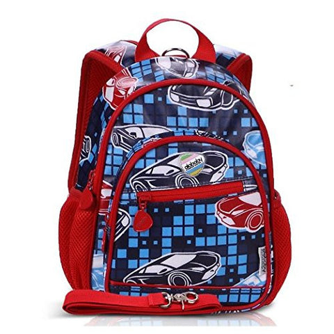 "Child Safety Harness, Mini Backpack with Rein (11"", Car Pattern)"