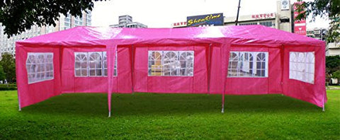 New 30'x10' Outdoor Party Wedding Tent Gazebo Events Pavilion - Pink