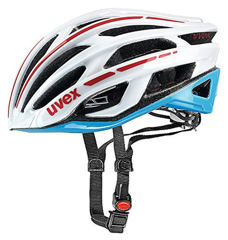 2015 Uvex Unisex Race 5 Helmet White and Cyan Large 58-61cm