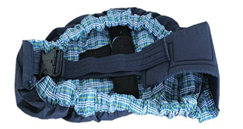 iAnko New Born Front Baby Sling Blue Plaid (Navy)