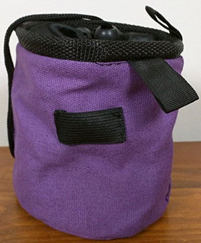 Chalk Bag for Gymnastics, Climbing, and Weight Lifting (Purple)