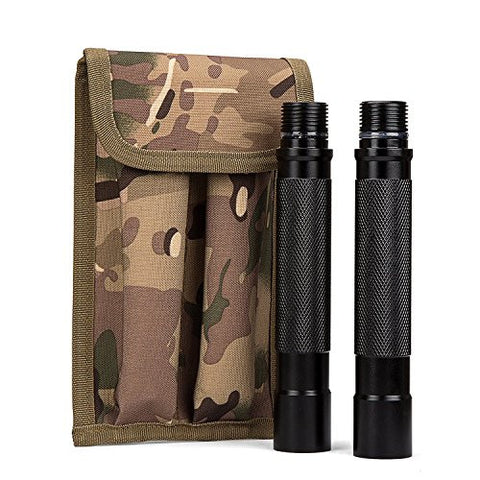 Extension Tubes for FiveJoy (RS) Military Folding Shovel Multi Tool - 2 Piece Carbon Steel Handles w/ Case for Emergency Survival Kit, Entrenching Outdoors - Extend Your Leverage Power Efficiency