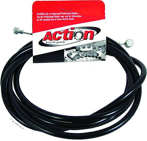 ACTION Unlined 2-End Black Each Cable, Brake