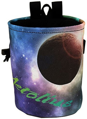 Metolius Galaxy Competition Chalk Bag Moon One Size by Metolius