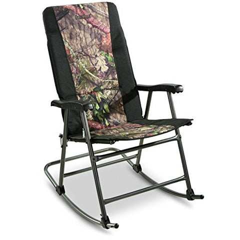 Guide Gear Oversized Camping Mossy Oak Camo Rocking Chair 500 lb. Capacity