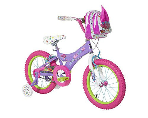 Trolls Girls Bike, Purple/Pink/White, 16""