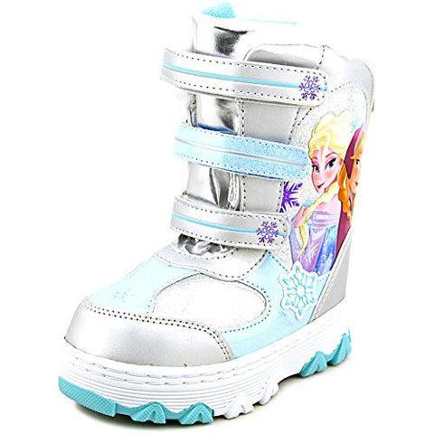 Disney Frozen Toddler Girl's Fashion Blue/Silver Winter Snow Boots Shoes Sz: 7T