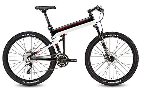 "2016 Montague Paratrooper Elite 18"" Black/Red/White 30 Speed Folding Bike"