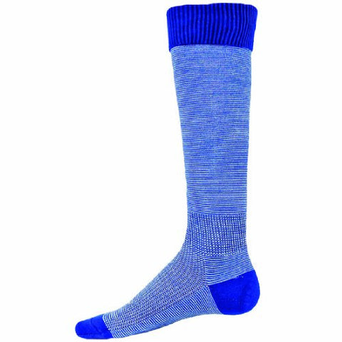 Red Lion Skinny Knee High Soccer Volleyball Sock ( Royal Blue / White - Large )