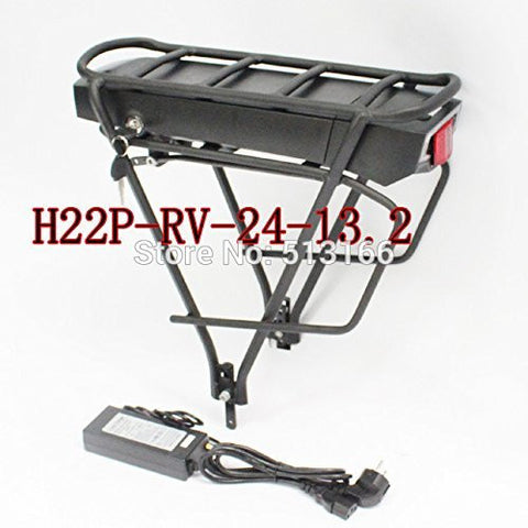 3.7V 2.2AH 10A 3C Cell Rear Hangers Battery H22P-RV Ebike Rear Carrier Battery 24V 13.2Ah Electric Bike Rear Rack Battery