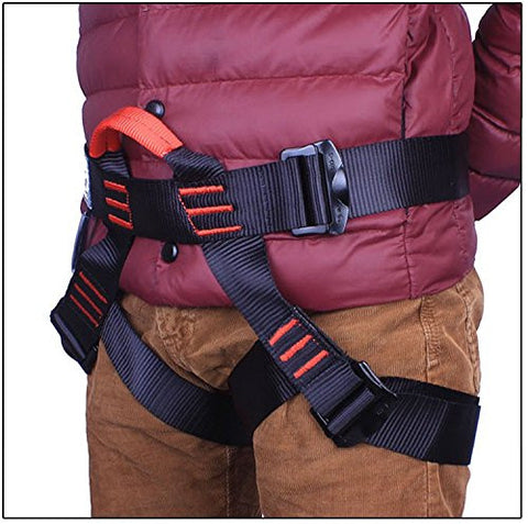 Aishine Harness Seat Belts Sitting Safety for Outdoor Rock Climbing Rappelling Equipment