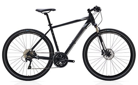 "Polygon Bikes Adult Heist 5 Bicycle, Black/Silver, 43""/XX-Small"