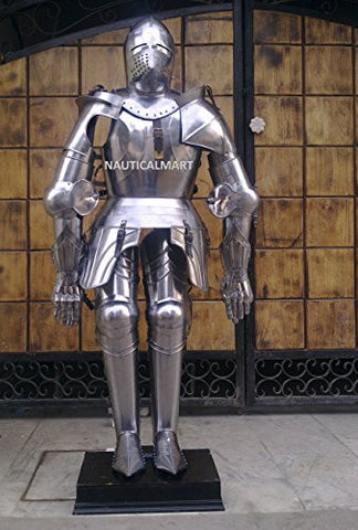 17TH CENTURY TRADITIONAL GERMAN KNIGHT FULL SUIT OF ARMOR BY NAUTICALMART