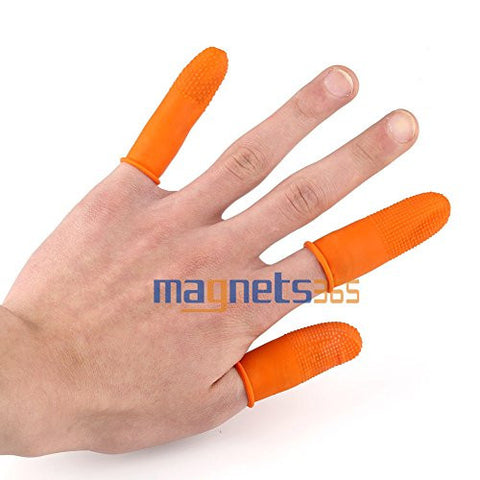 30pcs Thicken Nail Art Natural Rubber Finger Protectors Gloves Cots Cover