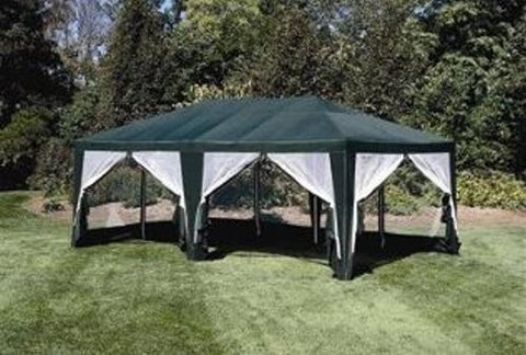 Deluxe Party Tent, Sun Shelter 20ft x 12ft in Green