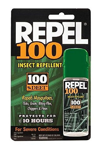 Repel 100 Insect Repellent, 100% DEET 1 fl oz (29.5 ml),5 pk