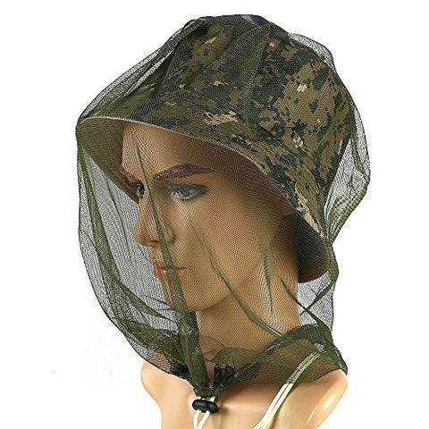Gmilk Outdoor High Quality Anti-Mosquito Anti-Bite Mosquito Head Net Face Neck Protection Grow in the Dark