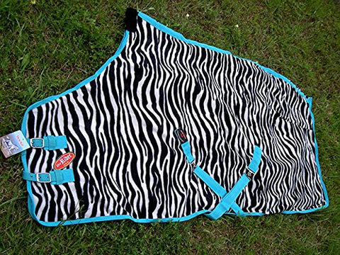 "84"" Horse Sheet Polar FLEECE COOLER Exercise Blanket wick Zebra 4340"
