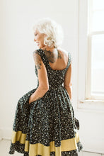 BACK IN STOCK! Laced to Perfection Dress in Metallic Night Sky
