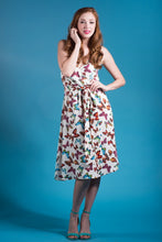 Social Butterfly Dress in White Butterfly Print
