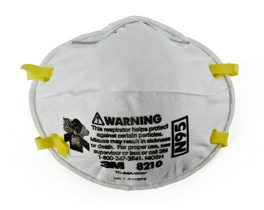 3M™ Particulate Respirator 8210, N95. Box of 20