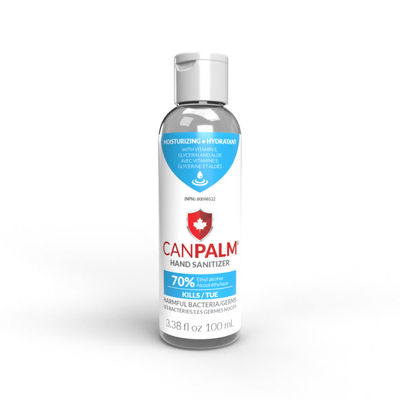 Canpalm hand sanitizer, 100ml, 81 units (boxed)