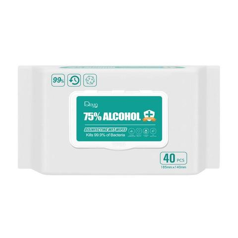 75% Alcohol Disinfecting Wet Wipes, 40pcs/pack