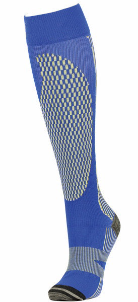 Dark Blue/Yellow Athletic: Medical Compression Socks 20-30mmHg