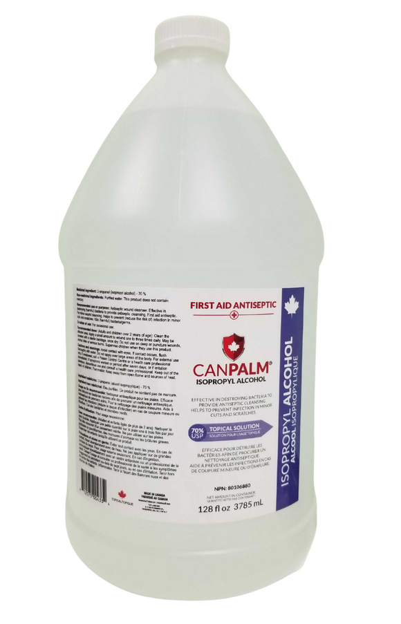 Isopropyl 70% Rubbing Alcohol, 4X4 litre (Boxed)