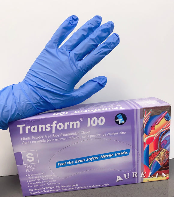 Blue Nitrile Gloves, 100 pieces