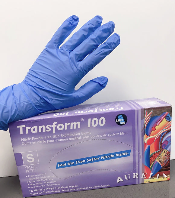 Blue Nitrile Gloves, 10 boxes of gloves, 100 pieces per box