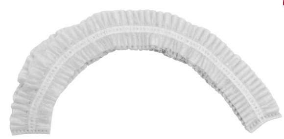 Pleated Bouffant Cap (White)1000pc/cs