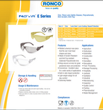 Safety glasses Nova E Series One Piece Lens, 12 pairs (Boxed)