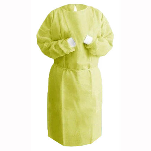 Yellow Isolation Gown. Pack of 10