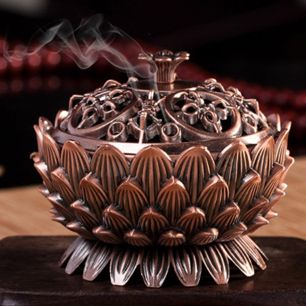 Lotus Incense Burner - Zen Worlds