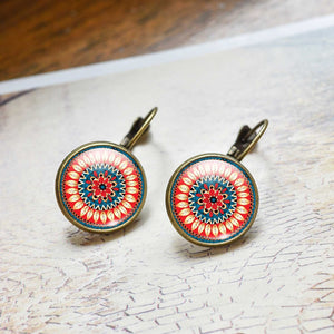 Mandala Earrings Henna - Zen Worlds