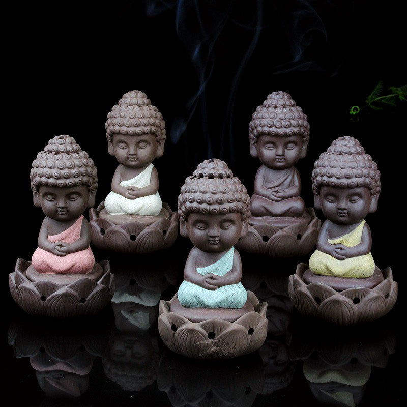 Zen Little Buddha Cone Coil Incense Burner Holder - Zen Worlds