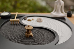 Wooden Zen Garden Incense Burner Sand Table - Zen Worlds