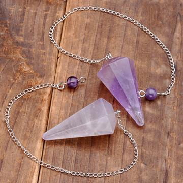 Natural Stone Crystal Pendulum - Zen Worlds