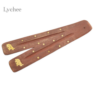 Wooden Incense Stick Holder Ash Catcher - Zen Worlds
