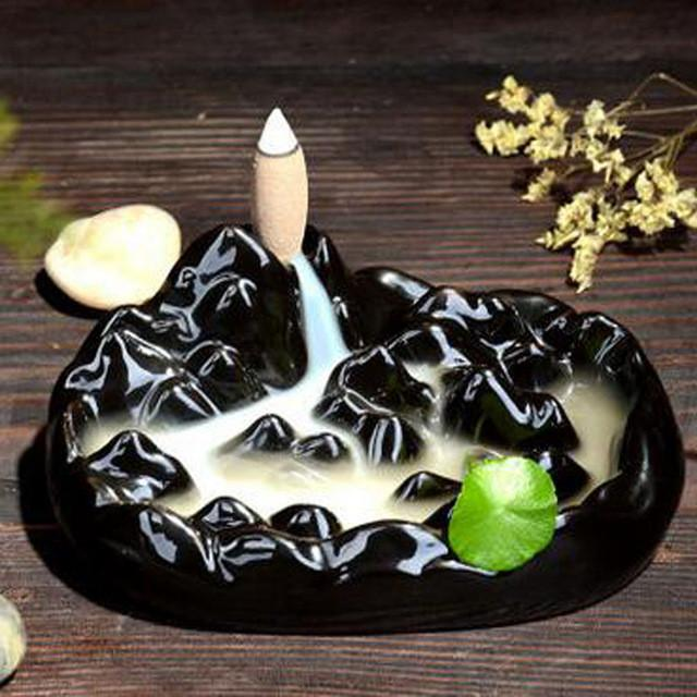 Ceramic Incense Burner Handmade Porcelain - Zen Worlds