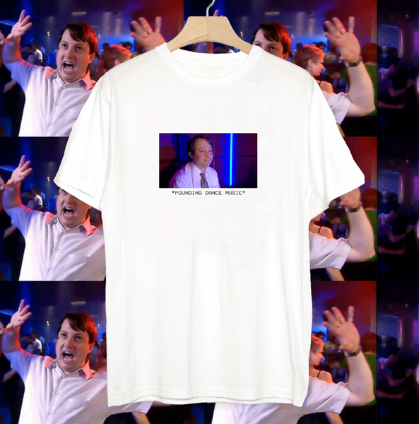 Peep Show Pounding Dance Music Mark Corrigan T-shirt Funny Meme