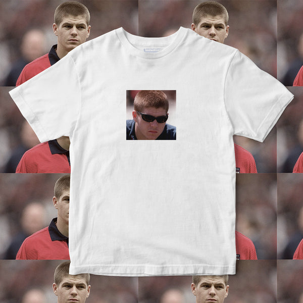 steven gerrard liverpool young glasses funny t shirt stevie g
